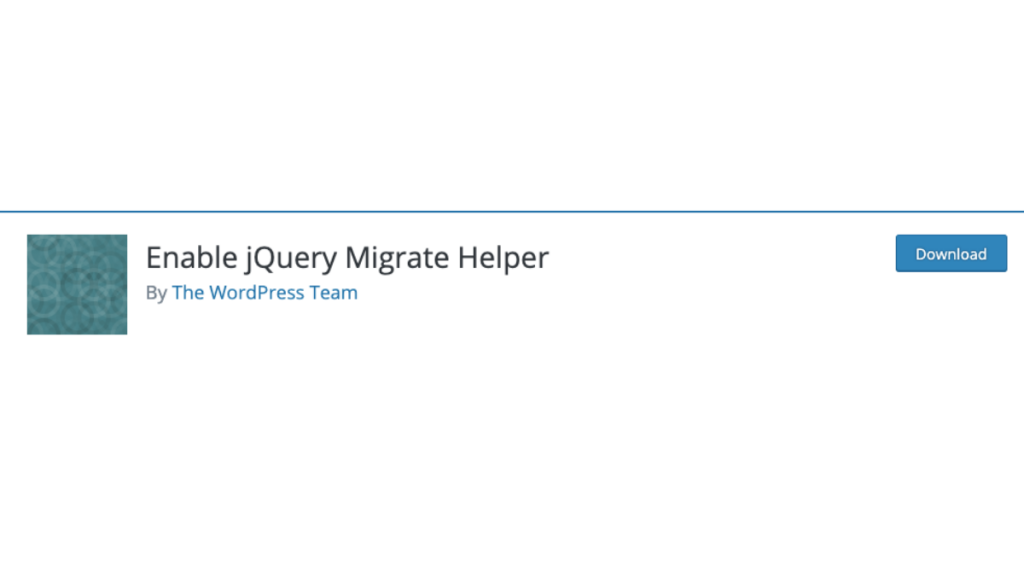 Plugin Enable JQuery Migrate Helper Mengatasi masalah pada update WordPress 5.5